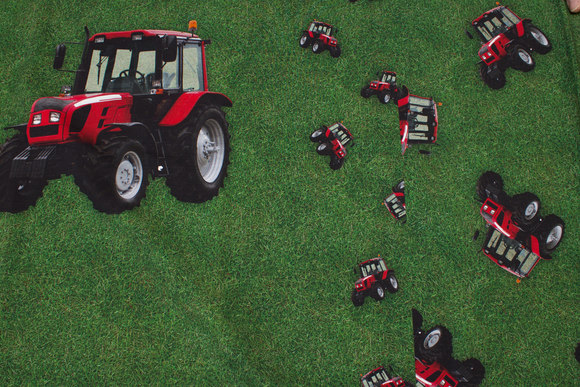 Traktor panel (for- og bagstykke) bomuldsjersey