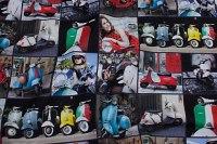 Vespascootere og Italien-tema på unikt digital print