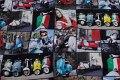 Vespascootere og Italien-tema på unikt digital print.