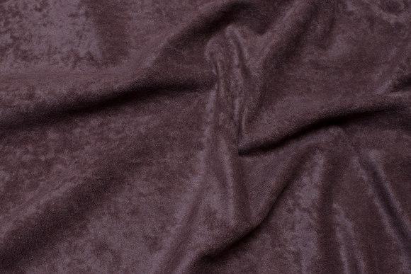 Mørkbrun, let imiteret ruskind