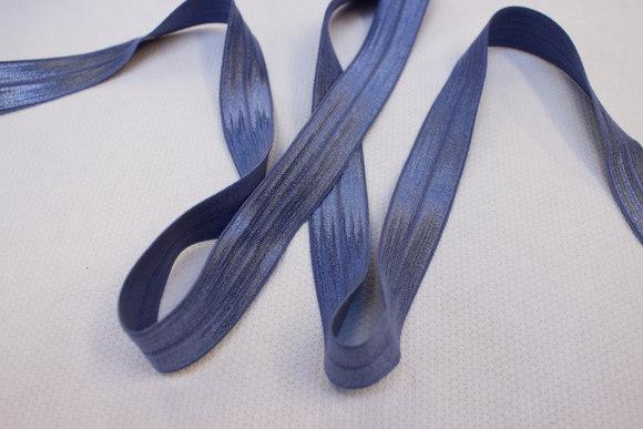 Elastikkantebånd i dueblå