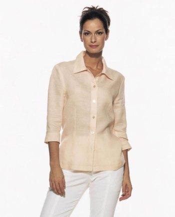 Skjortebluse med krave og knaplukning