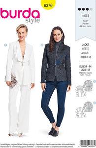 Couture blazer med krave-design. Burda 6376.