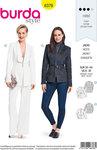 Burda 6376. Couture blazer med krave-design.