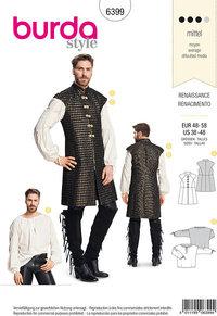 Renæssanceudklædning, kjortel og skjorte. Burda 6399.