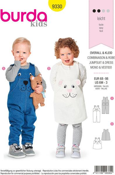 Bukser, overalls, kjole til børn