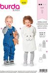 Burda 9330. Bukser, overalls, kjole til børn.