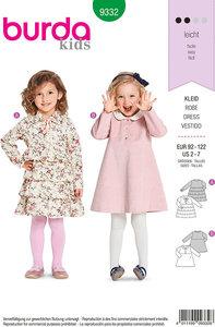 Kjoler og bluser til små børn. Burda 9332.