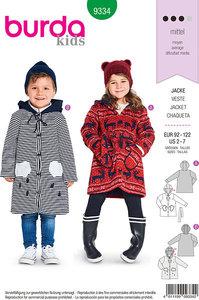 Frakker og jakker til børn. Burda 9334.