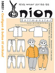 Onion 10021. Cardigan og bukser til strikstof.