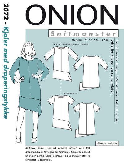 Kjoler med draperingsstykke