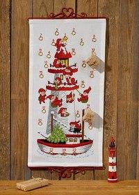 Julepakkekalender med Nissefyrtårnet. Permin 34-7255.