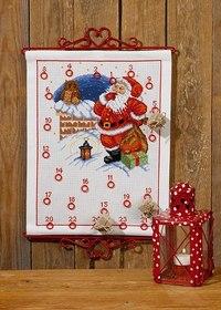 Julepakkekalender med Nisse og ugle. Permin 34-7256.
