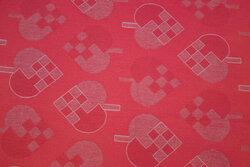 Acrylcoated textildug med 8 cm hjerter