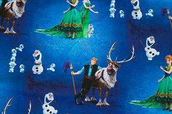 Blå bomuldsjersey med Frost-motiver