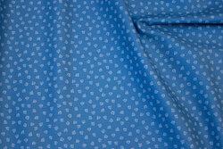 Blå, fast bomuld med 5 mm mini-ankre
