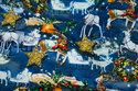 Blå julejersey med rensdyr