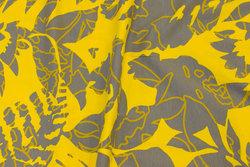 Bomuldsjersey i gul og grå