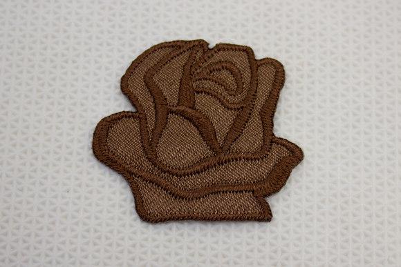 Brun rose strygemærke ø 3,5 cm