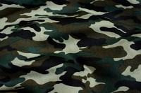 Camouflagestof i grønne og sorte farver