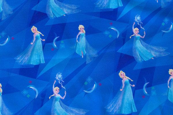 Coboltblå bomuldsjersey med Elsa