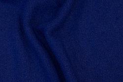 Coboltblå let bouclé i uld og viscose