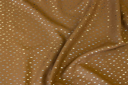 Cognac-farvet bluseviscose med lille sølv nist