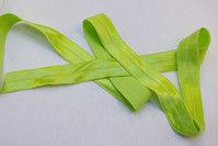 Elastikkantebånd i limegrøn 2 cm. br.