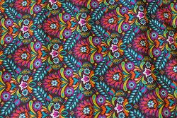 Fast bomuld med multifarver i retro-stil