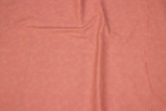 Flammet rosa patchwork bomuld med miniprik