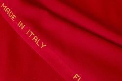 Flot italiensk uld-flannel i rød