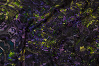 Fyldig vinterjersey med flock- effekt i lilla og lime