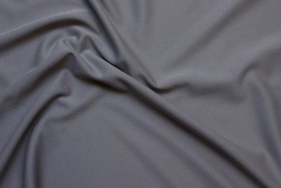 Grå let sportsjersey i polyester