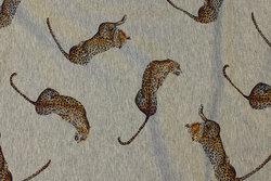 Gråmeleret, let isoli med ca. 7 cm store leoparder