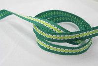 Grøn/lime vævet bånd 0,7cm