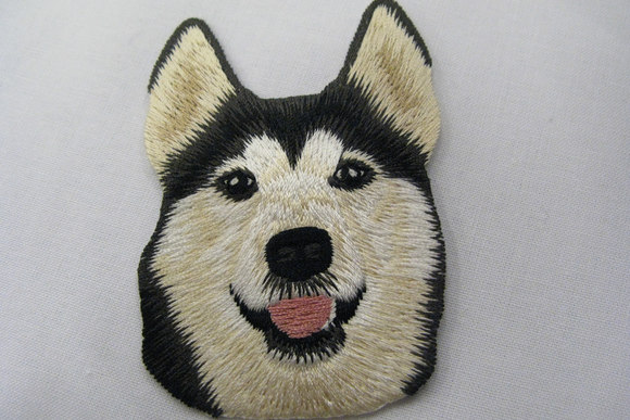 Hund strygemærke 7x5cm