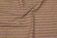 Hvid bomuld med gult stribe-mønster