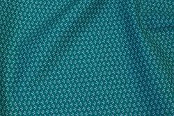 Jadegrøn bomuld med lille bladmønster