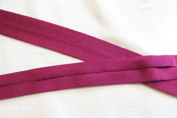 Jersey kantebånd fuchsia-pink 2cm bred