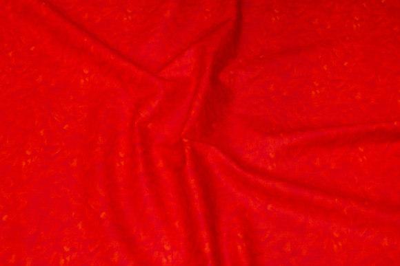 Klar rød bomuld med flammetryk