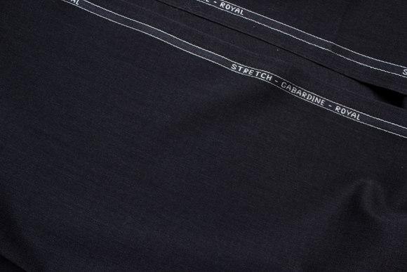 Koksgrå strækgabardine de luxe med kamgarn