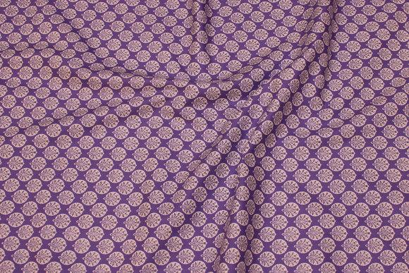 Lilla patchwork bomuld med lille bladmønster