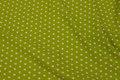 Limegrøn bomuldspoplin med hvide 1 cm stjerner