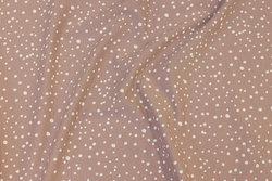 Lys støvrosa bomuldsjersey med hvide prikker