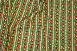 Lysegrøn julebomuld med røde sokker