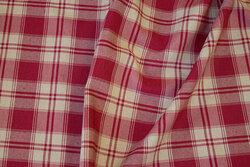 Mellemsvær bomuld og polyester i rød og sandfarvet