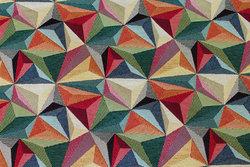 Møbelgobelin med stjernemønster i multifarver