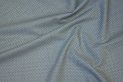 Musegrå, fast bomuld med diskret mini-mønster