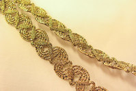 Ornamenteret guldbånd 1,2cm