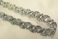 Ornamenteret sølvbånd 1cm